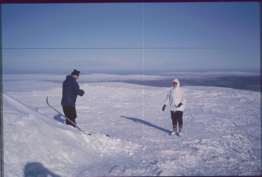 Isä ja Anne Kiilopäällä 11.3.1985