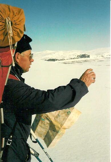 Lähestymme Meekoa, kuvassa Annjalonjin rinne 12.4.1986