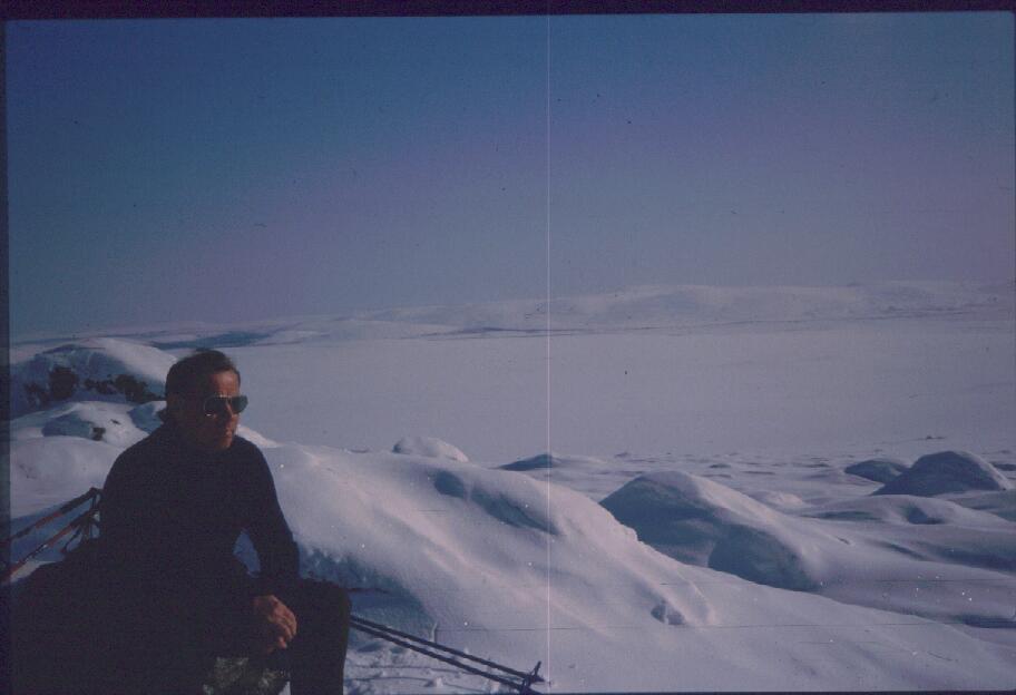 Isä Virdniniban huipulla 13.4.1987