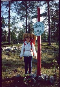 Anne Pallas-Ounastunturin kansallispuiston pohjoisrajalla 14.8.1983