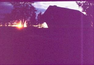 Pyhäkeron tupa illalla 14.8.1983
