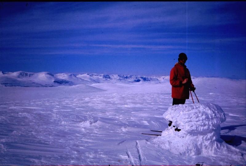 Kieddoaivi, maisema Norjaan 16.4.1984