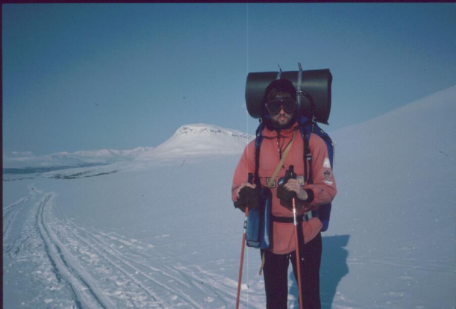 Lähestymme Saanaa ja Kilpisjärveä 16.4.1986