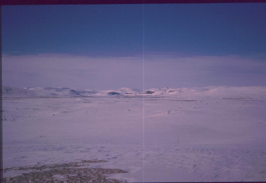 Porojärven laakso idästä 18.4.1988