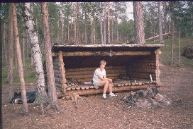 Anne Alemman Kiertämäjärven laavussa 19.7.1988