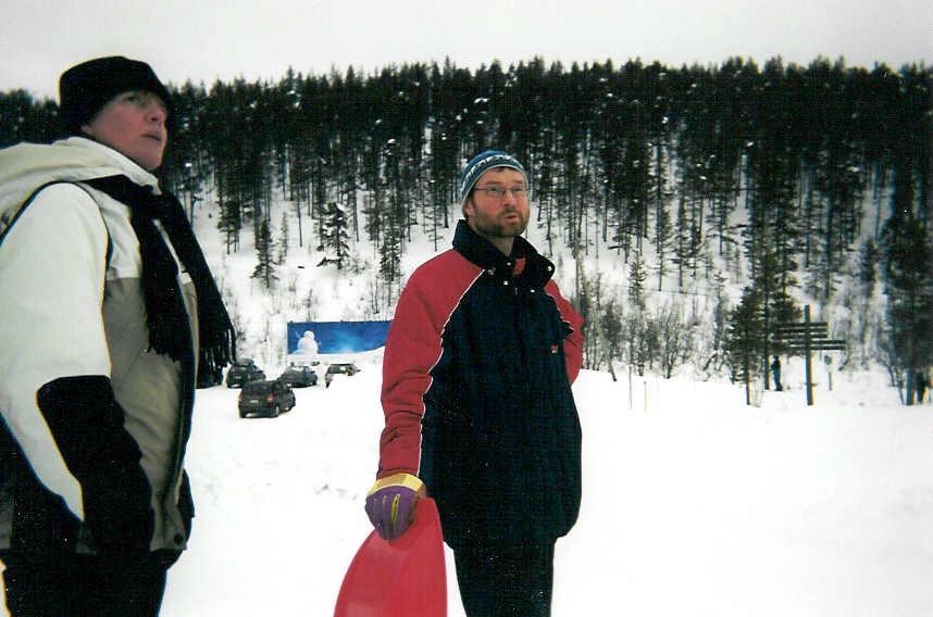 Pirjo ja Seppo Kaunispään alla 20.2.2003