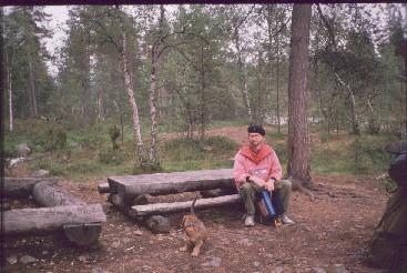 Ravadasnjargan telttailu- ja tulentekopaikka 20.7.1989
