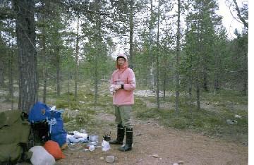 Maddib Ravadaksen telttailu- ja tulentekopaikka 20.7.1989