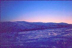Pikkutunturin laelta Sokostille päin 22.2.2001