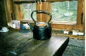 Lakkoja kahvipannussa Jyrkkävaaran tuvassa 24.7.1988