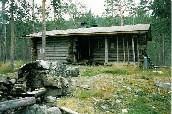 Jyrkkävaaran autio- ja varaustupa 24.7.1988