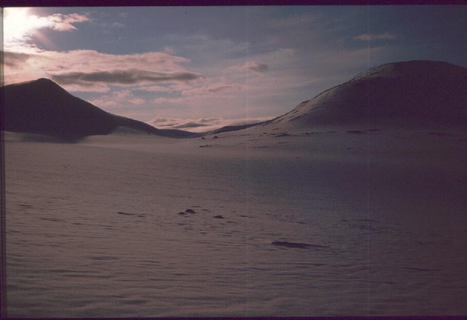 Kuonjarvarri ja Kahperusvaaran eteläreuna 28.4.1989