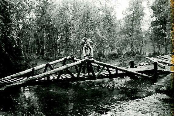 Silta yli Suomun pari kilometriä Suomunruoktulta etelään 28.8.1995