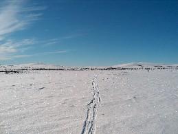 Guivilta kohti Madjokea. Kuva Guiville päin 11.4.2004