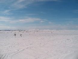 Erttetvarrin rinteiltä kuva etelään/lounaaseen 12.4.2004