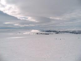 Nuvvus-Ailigas nähtynä Varddoaivin huipulta 24.4.2005