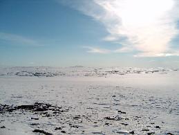 Stuorraroadjalta lounaaseen, keskellä Njavgoaivi 26.4.2005