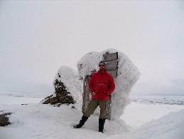 Guivin lumisella huipulla 27.4.2005