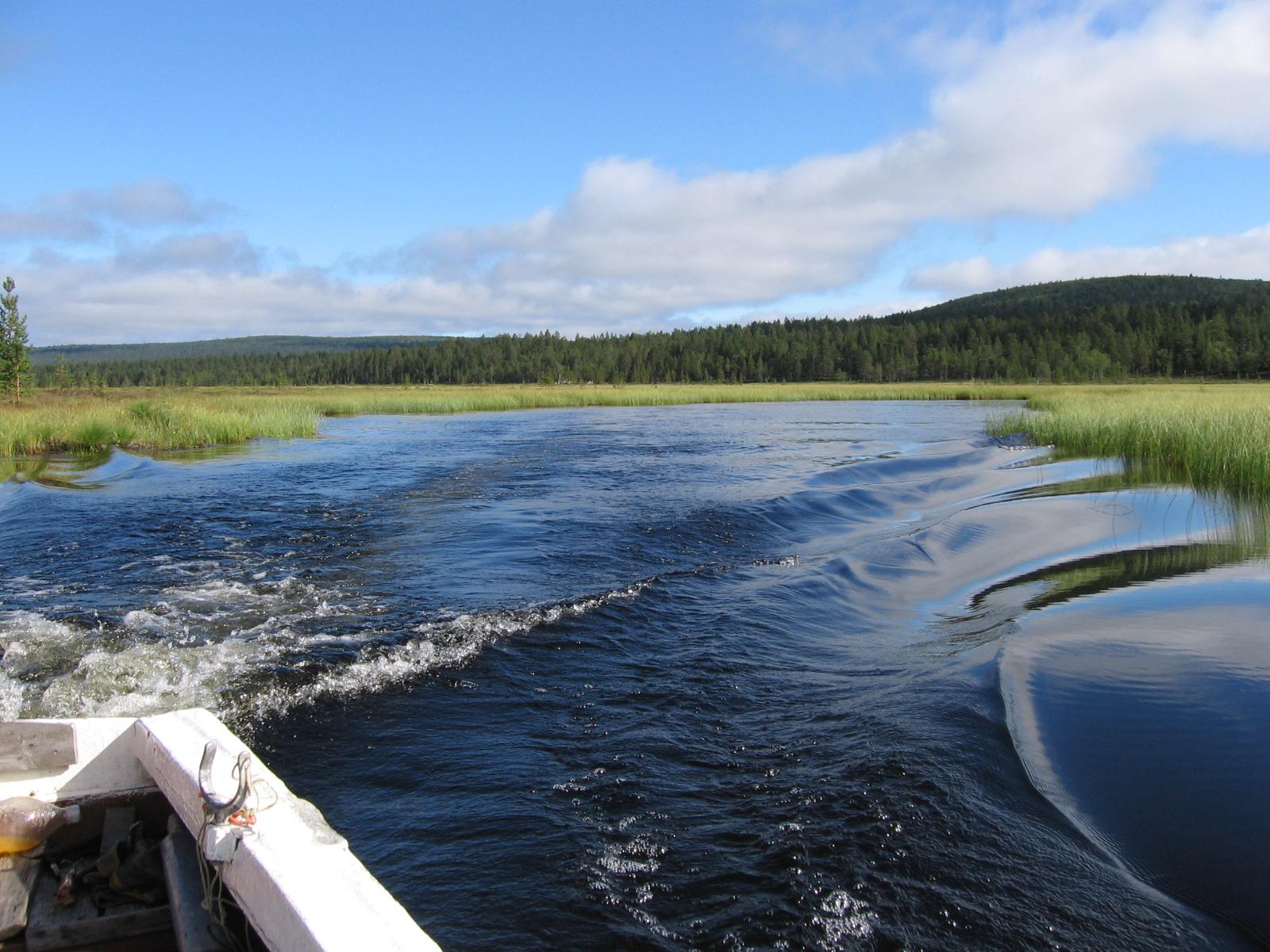 Aittavielma Vuorhajärven ja Aittajärven välillä 6.8.2010