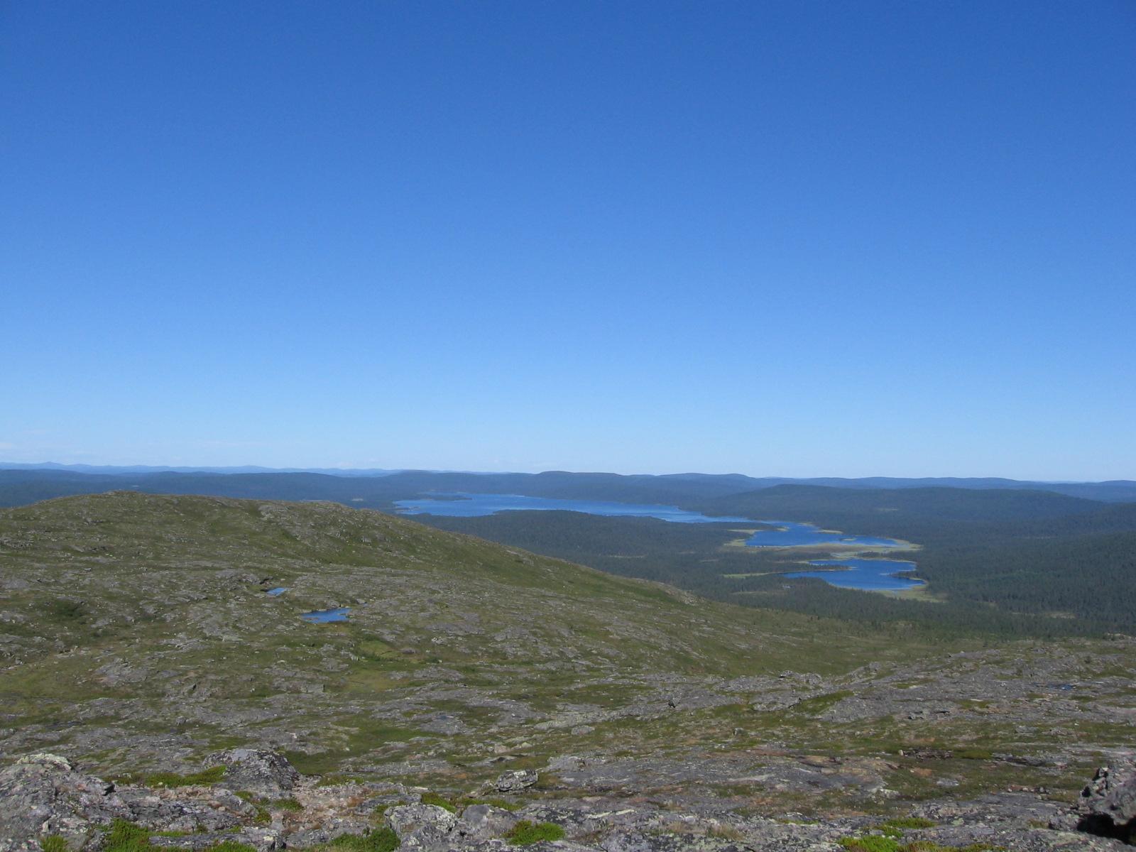 Hammastunturilta Hammasjärven suuntaan 6.8.2010
