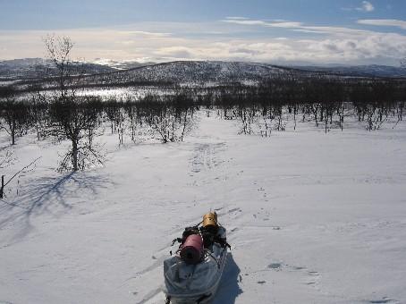 Riihkakarddevarrin itäpäästä etelään 18.3.2006