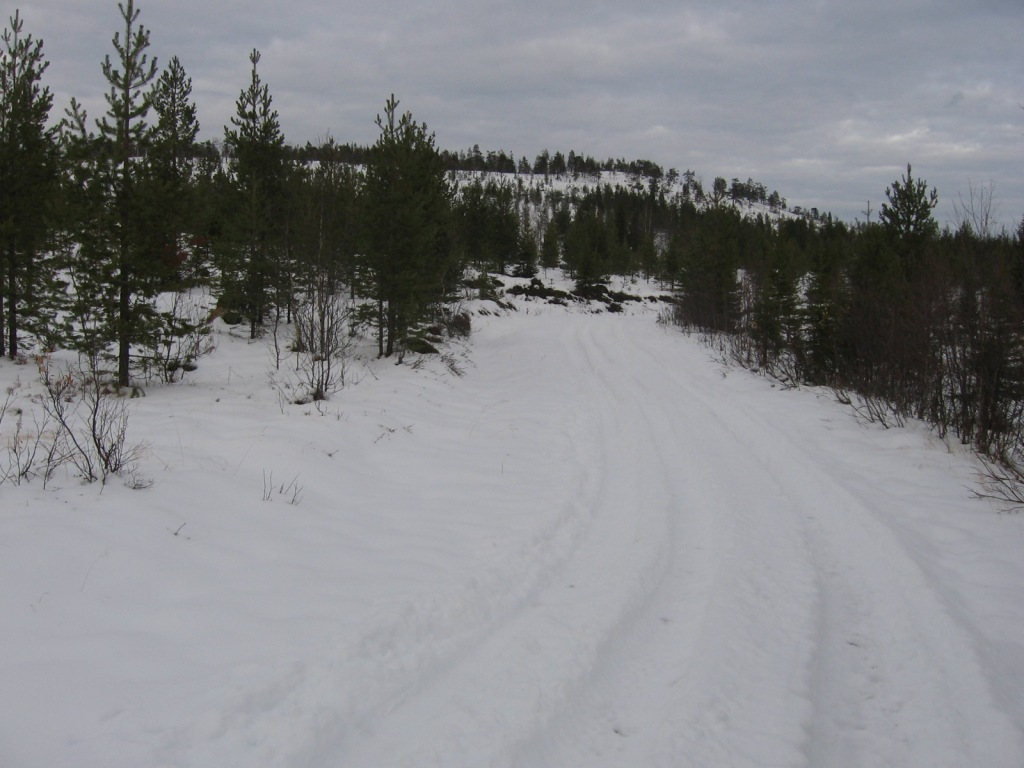 Huttujärven ja Huttuloman välinen tie 15.10.2009