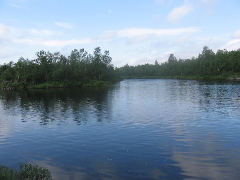 Inarijoen Norjasta rajalle laskeva osa 28.7.2007