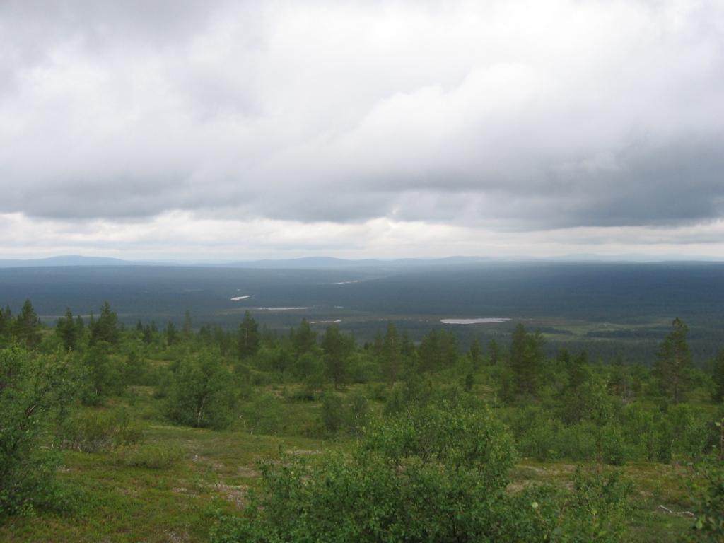 Ladnjoaivin rinteiltä länteen 31.7.2007