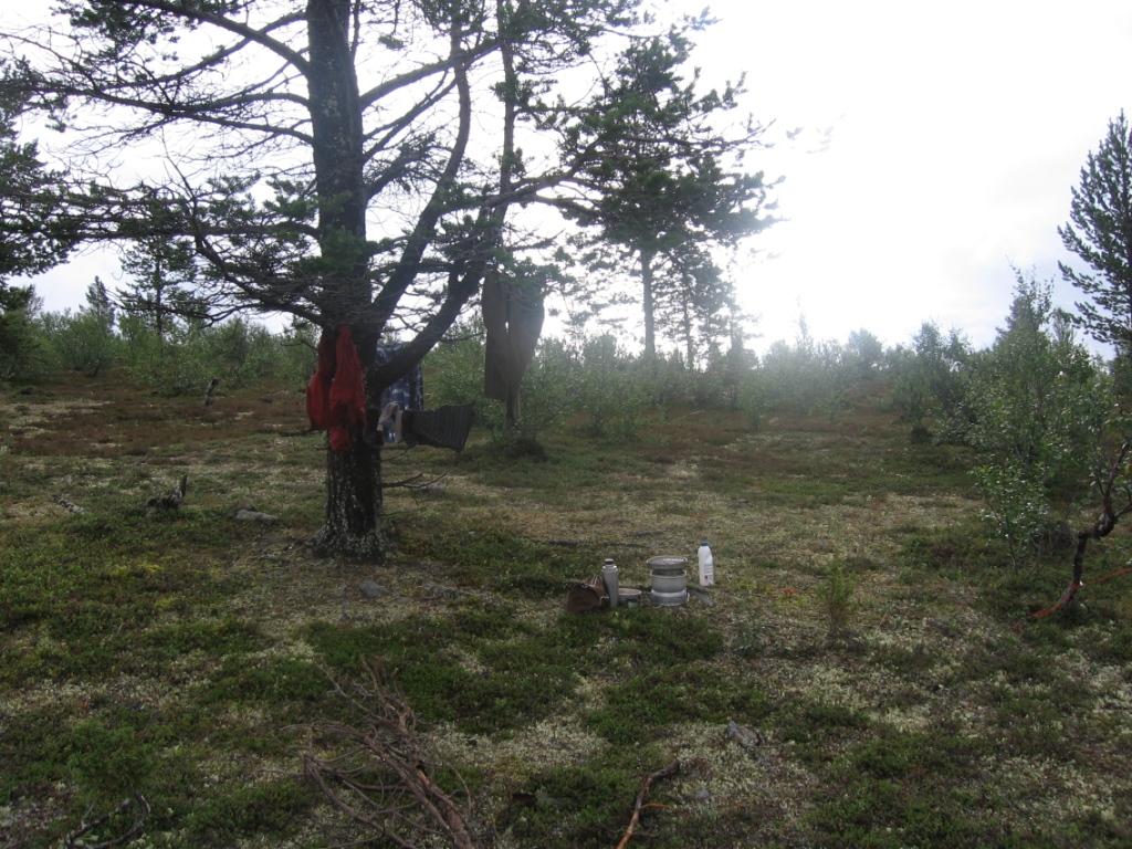 Vaatteet kuivumassa Soabbegeäldimoaivin laaksossa 1.8.2007