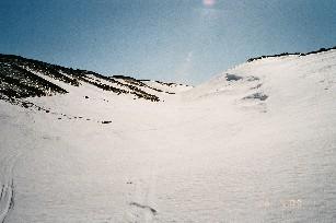 Kohti Kobmajokea, Veäjehoaivilta alas 26.4.2003
