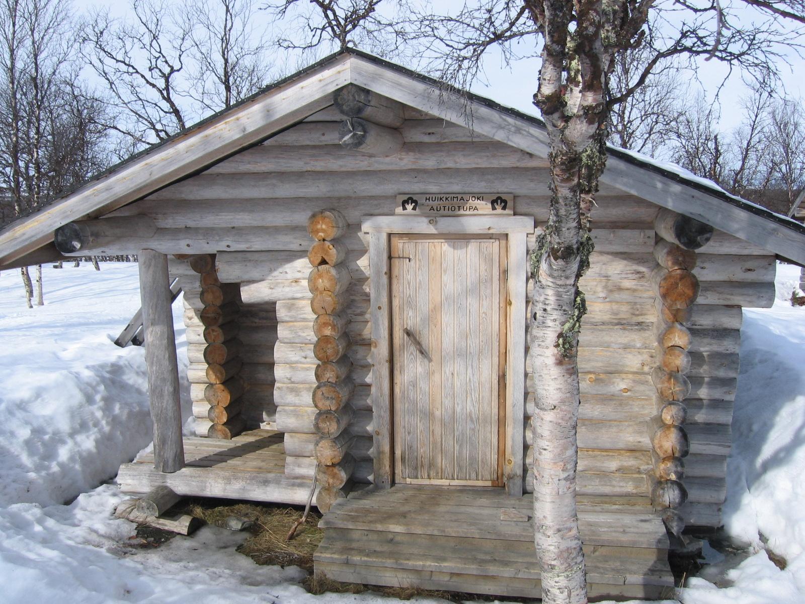 Huikkimajoen autiotupa 13.4.2010