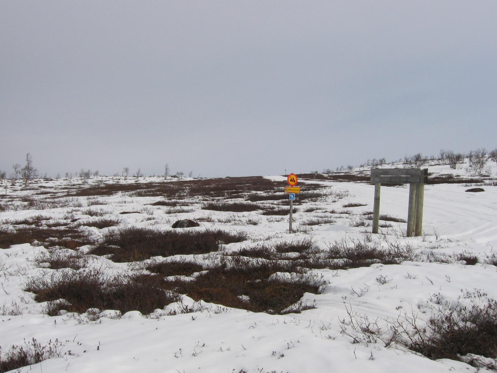 Buollanvarrin kohdalta kohti Pulmankijärveä 15.4.2010