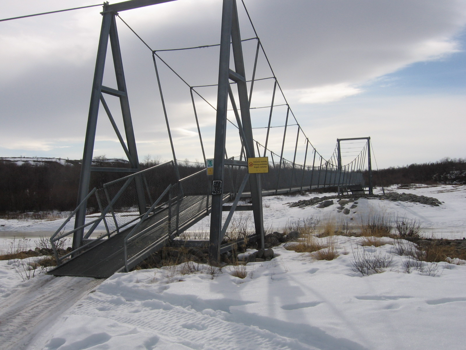 Pulmankijoen silta 15.4.2010