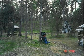 Vanha kolttakylä, museoalue Kotajärvi 15.7.2000