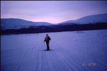 Pirjo Vuontisjärven jäällä 31.12.2002