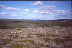 Tsuanjaoaivin 479-huipulta pohjoiseen 30.7.2002