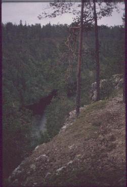 Aventojoki Ristikalliolta 14.7.1990