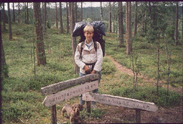 Anne ja Dacke Karhunkierroksella 16.7.1990