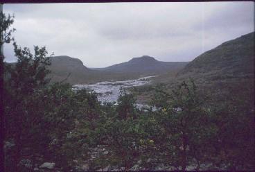 Vuobmegasjohka, Annjalonjin läntinen jyrkänne ja Saivaara 18.8.1991