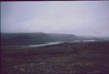 Skadjajavri ja Annjalonjin etelärinne 19.8.1991