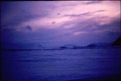 Porojärven ilta, kuva Meekon suuntaan 18.4.1993