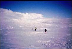 Isä, Kalervo ja Kaarina matkalla kohti Somasta 19.4.1993