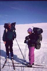 Kalervo ja Kaarina reissun loppupuolella 22.4.1993