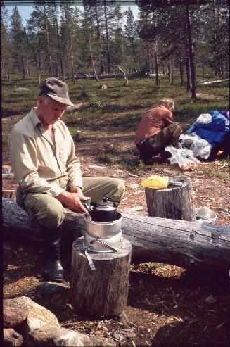 Kahvitauko Muorravaarakan tuvasta etelään 15.7.1994