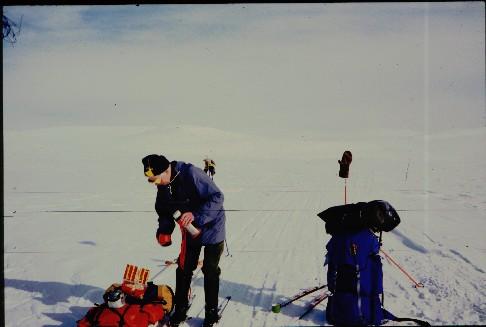 Kahvitauko matkalla Saarijärveltä Lossulle 2.4.1995