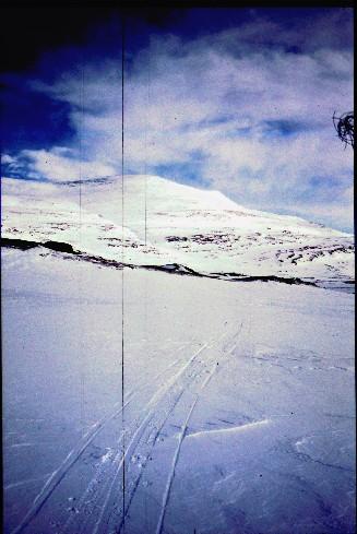 Kovddoskaisan rinteet nähtynä Urttasvankasta 3.4.1995