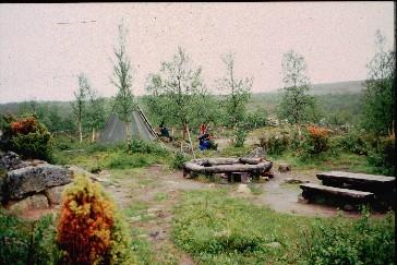 Laavu Suohppasoaivin itäpuolella 14.7.1996