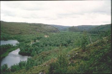 Kevojoki Kamajoen laskupaikasta koilliseen 16.7.1996