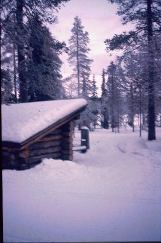 Tunturijärven (Ylläksen länsipuolella) laavu 23.12.1997