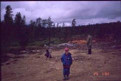 Kenttäsaha Ahvenvaaran lähellä 29.7.1999